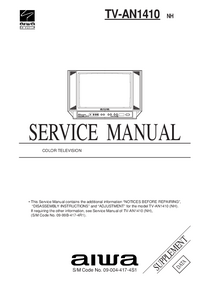 Manuale di servizio Supplemento Aiwa TV-AN1410 NH