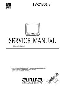 Serviço Manual Supplement Aiwa TV-C1300 U