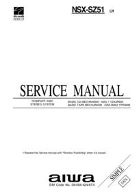 Руководство по техническому обслуживанию Aiwa NSX-SZ51 LH