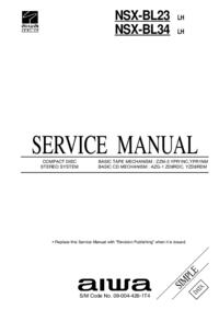 Руководство по техническому обслуживанию Aiwa NSX-BL23 LH
