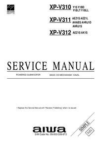 Manual de servicio Aiwa XP-V310 Y1BLT