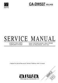 Instrukcja serwisowa Aiwa CA-DW537 U(S)