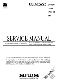 Service Manual Supplement Aiwa CSD-ES225 HE