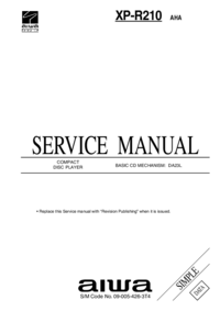 Service Manual Aiwa XP-R210 AHA