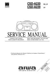 manuel de réparation Aiwa CSD-A220 HA