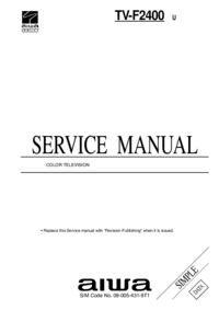 Service Manual Aiwa TV-F2400 U