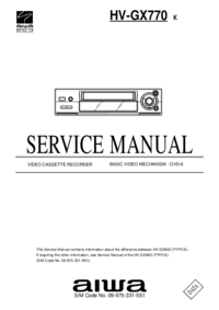 Service Manual Aiwa HV-GX770 K