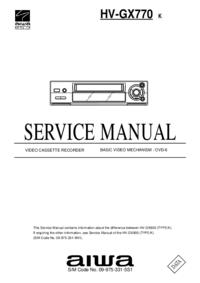 Manual de serviço Aiwa HV-GX770 K
