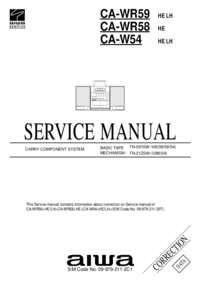 Service Manual Supplement Aiwa CA-W54 LH