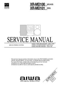 Руководство по техническому обслуживанию дополнения Aiwa XR-MD100 K(S)