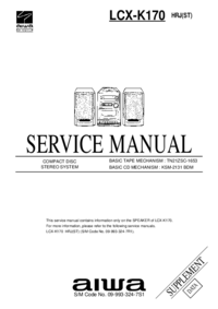 Suplemento Manual de servicio Aiwa LCX-K170 HRJ(ST)