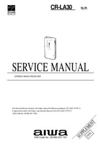 Supplément manuel de réparation Aiwa CR-LA30 Y(L/P)