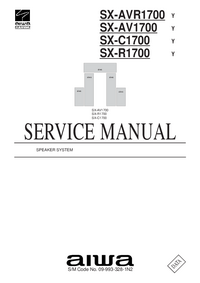 Service Manual Aiwa SX-R1700   Y
