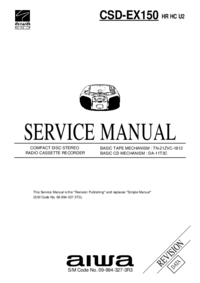 Manual de servicio Aiwa CSD-EX150 HR