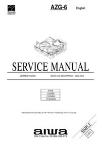 Servicehandboek Aiwa AZG-6 CS3DM