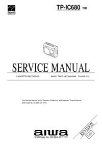 Manual de serviço Aiwa TP-IC680 YH1