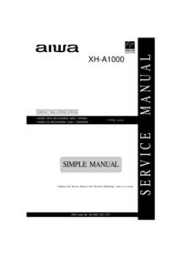 Manual de serviço Aiwa XH-A1000