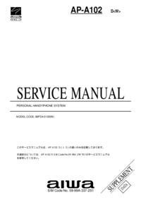 Supplément manuel de réparation Aiwa AP-A102 D<W>