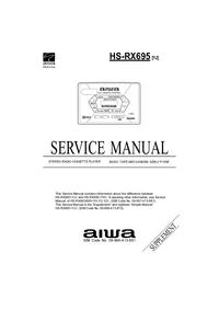Supplément manuel de réparation Aiwa HS-RX695 [YJ]