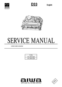 Servicehandboek Aiwa D33 P4 LRN133A
