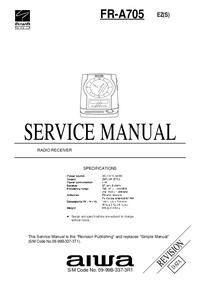 Manual de servicio Aiwa FR-A705 EZ(S)