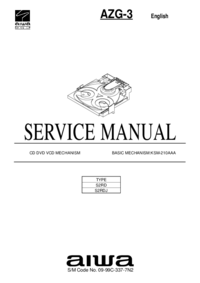 Manuale di servizio Aiwa AZG-3 S2RDJ
