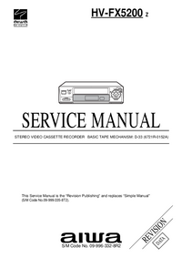Service Manual Aiwa HV-FX5200 Z