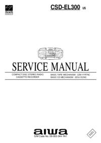Serviceanleitung Aiwa CSD-EL300