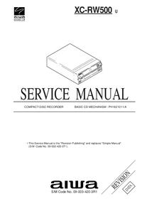Manual de servicio Aiwa XC-RW500