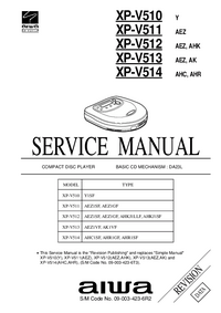Manual de servicio Aiwa XP-V510