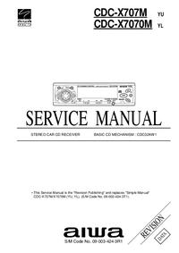 Руководство по техническому обслуживанию Aiwa CDC-X7070M