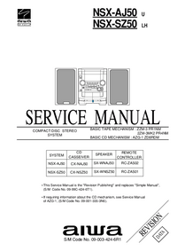 Servicehandboek Aiwa NSX-AJ50