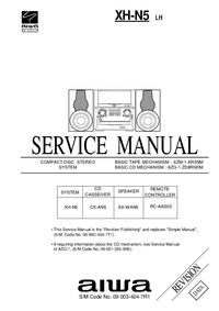 Instrukcja serwisowa Aiwa XH-N5