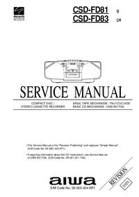 Serviceanleitung Aiwa CSD-FD81