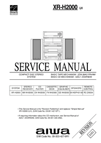 Manual de servicio Aiwa XR-H2000