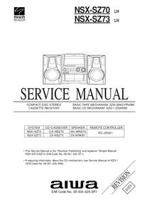 manuel de réparation Aiwa NSX-SZ73