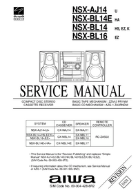 Service Manual Aiwa NSX-BL16