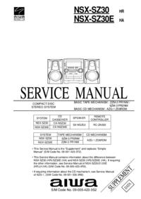 Руководство по техническому обслуживанию Aiwa NSX-SZ30