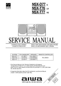Manual de servicio Aiwa NSX-D77