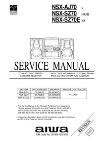 Service Manual Aiwa NSX-SZ70