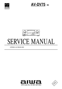 Service Manual Aiwa AV-DV75