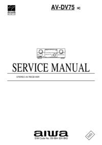 Serviceanleitung Aiwa AV-DV75