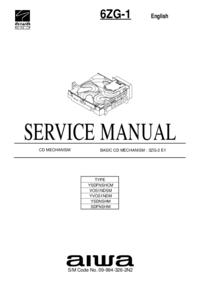 Manual de servicio Aiwa 6ZG-1 YSDNSHM