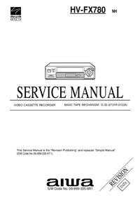 Servicehandboek Aiwa HV-FX780