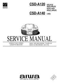 Servicehandboek Aiwa CSD-A120