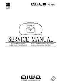 Manual de serviço Aiwa CSD-A310
