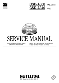 Manual de servicio Aiwa CSD-A360
