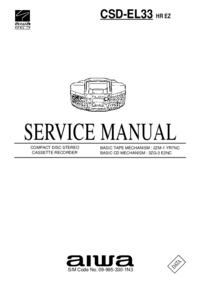 Manuale di servizio Aiwa CSD-EL33