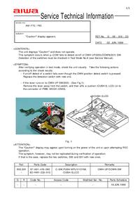 Erweiterung zur Serviceanleitung Aiwa AM-F70
