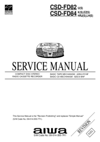 Service Manual Aiwa CSD-FD82